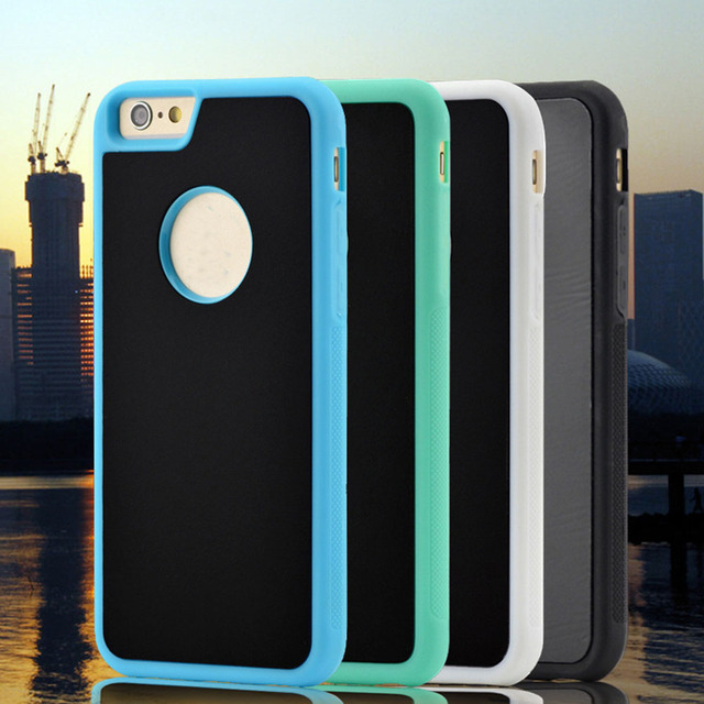 purchase cheap b1a5f dcdc2 US $3.29  1 Pc/lot TPU&PC Magical Anti Gravity Adsorption Cell Phone Case  Back Cover for iPhone 7 7 Plus 6s 6 Plus-in Fitted Cases from Cellphones &  ...