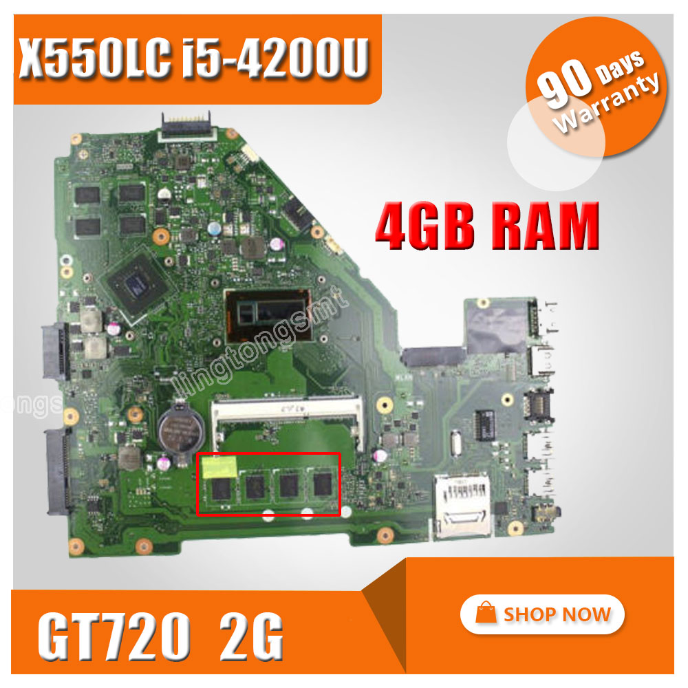 X550LC For ASUS X550LC font b laptop b font motherboard x550lc Mainboard REV2 0 4G font