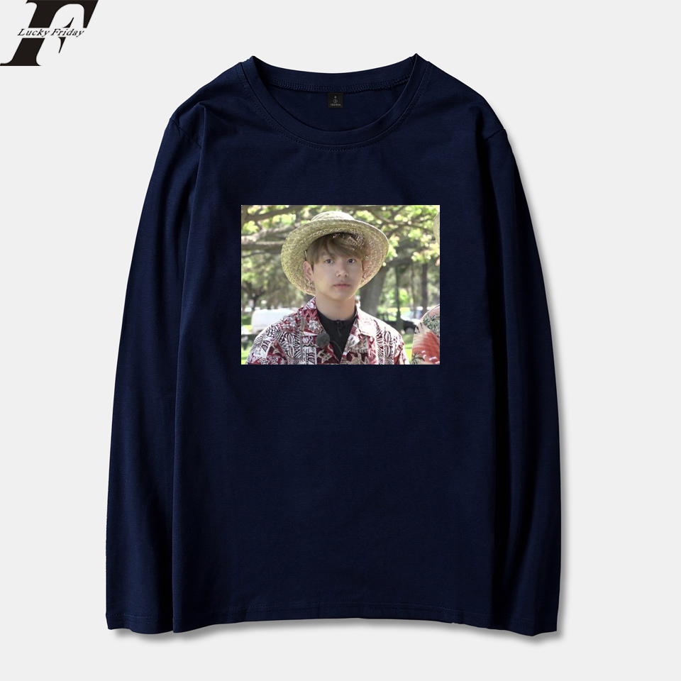 BTS Kpop Jungkook Hawaii Spring Kpop Style Long Sleeve T-Shirts Men/Women Cotton Streetwear Top Tees XXS To 4XL