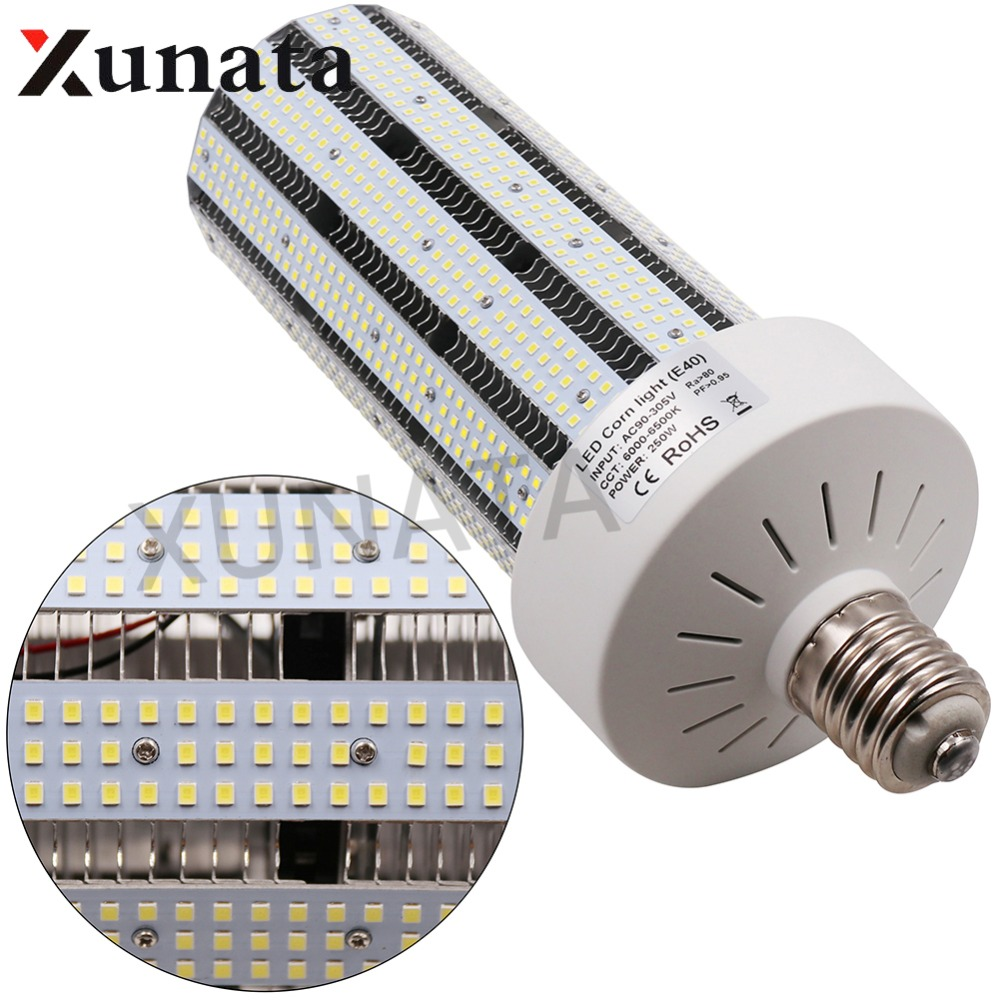 360 Angle Super Bright SMD 2835 Led corn bulb E27 E40 B22 30W 50W 60W 100W 250W Led Corn Light Led lamp SMD 5730 For Streetlight