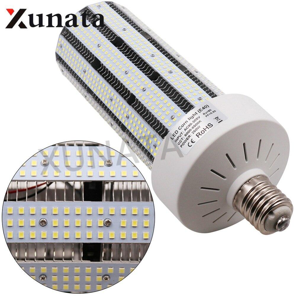 360 Angle Super Bright SMD 2835 Led corn bulb E27 E40 B22 30W 50W 60W 100W 250W Led Corn Light Led lamp SMD 5730 For Streetlight