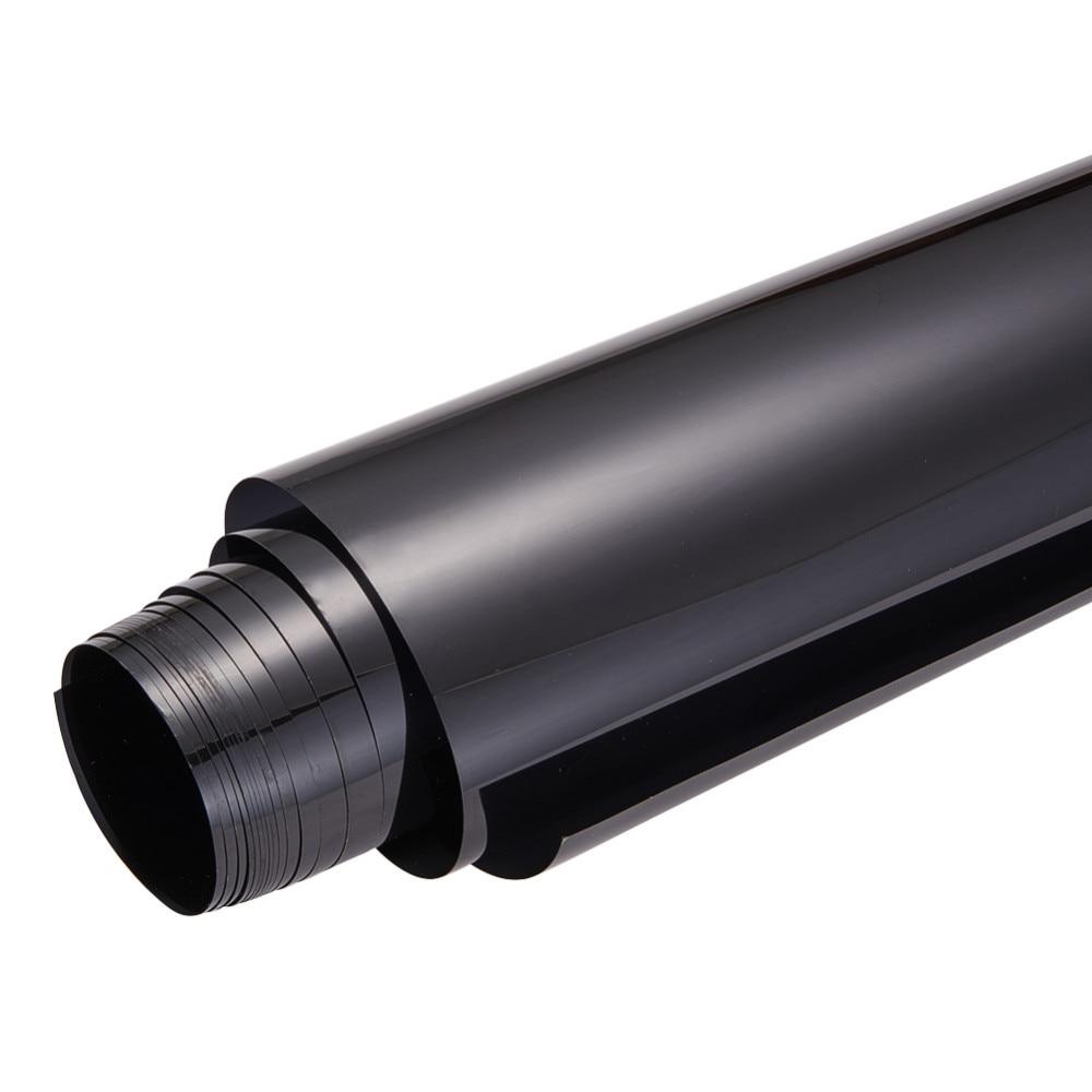 Accesorios para el automóvil para la película de la ventana lateral Láminas de vidrio para automóviles de color negro oscuro Láminas de tinte Protección solar Motocicleta 0.5x3m Etiqueta del automóvil
