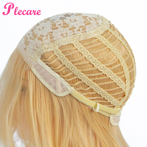 Image 5 - Plecare Long Blonde Wig Ombre Synthetic Wig  Heat Resistant  Pruiken Wig For Black/White Women Cosplay Wig