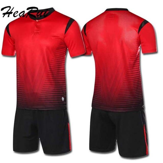 Hearui personalizar 2018 2017 hombres trajes de fútbol profesional  establece nuevo equipo de temporada camiseta b21660ed07e