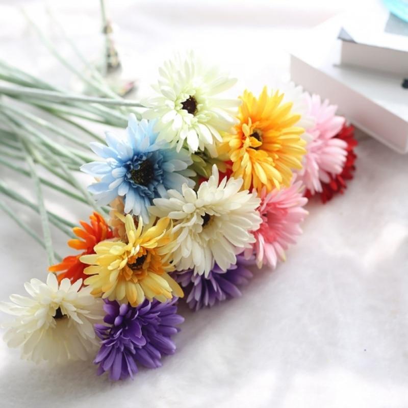 1 PCS Real Touch Latex Silk Artificial fake plastic Daisy Chrysanthemum Flowers Sun Chrysanthemum,Sunflower, Simulation Gerber