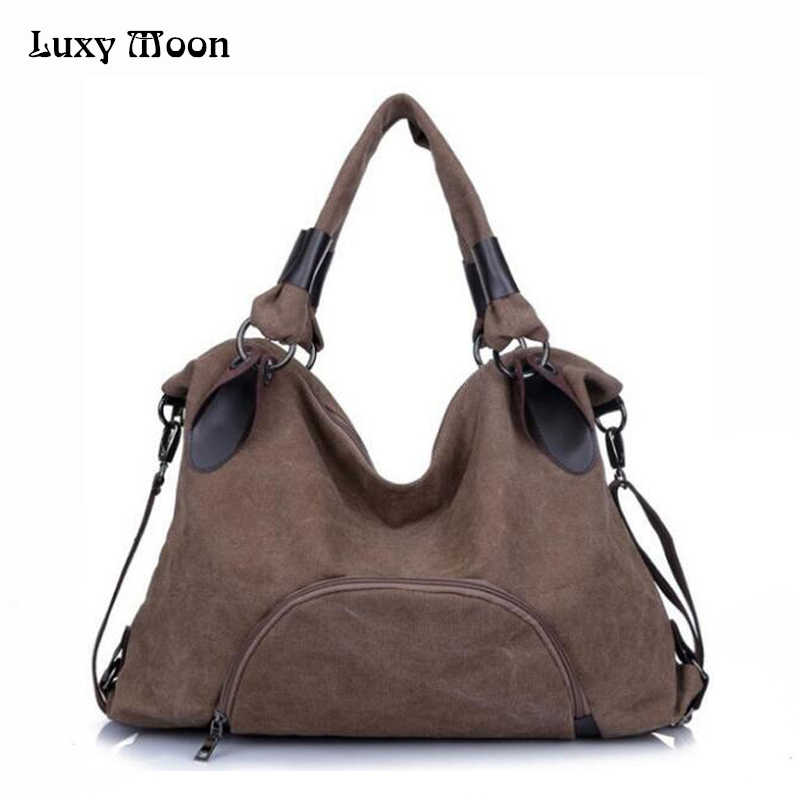 9e74c5a64 Luxy Moon New Women Bag Canvas Handbag Casual bolsa femini Large Capacity  Messenger Bags Female Totes