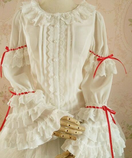 LOLITA blouse bourgeon soie mousseline de soie non doublé vêtement supérieur de cultiver son design original