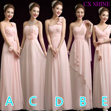 CX SHINE Custom color! 5 style chiffon long Bridesmaid Dresses wedding dress, Prom Dress party dress women Vestidos Plus size