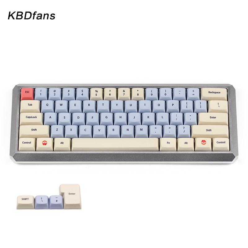 цена на kbdfans new arrival xda keycaps dye subbed keycap gh60 xd60 for cherry mx mechanical keyboard