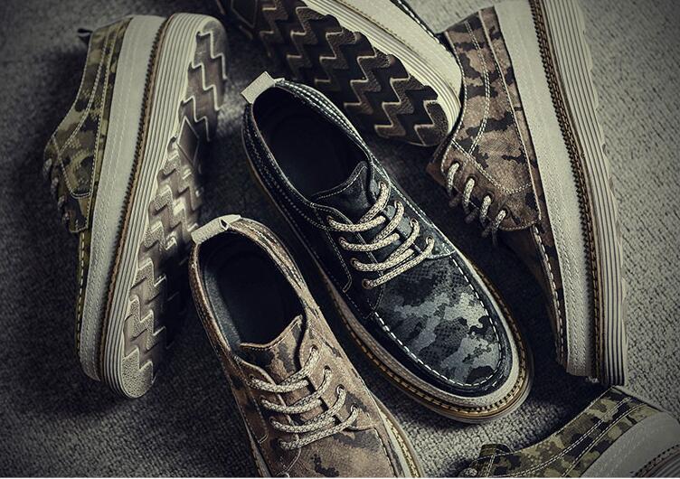 Mocassins Genuíno Casual Sneakers Lace Sapatos Altura Sapatas Flats Couro Homens verde Crescente Smart Plataforma cinza Camuflagem Apartamentos Vestido Up De Preto xATPwwq06