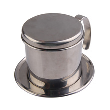 Stainless Steel Metal Vietnamese Coffee Drip Cup Filter Maker Strainer BS