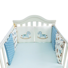 6Pcs/Lot Baby Bed Bumper in the Crib Baby Bed Protector Cot Bumper Comfy Crib Bumper Toddler Newborns Bed Bedding Set(China)