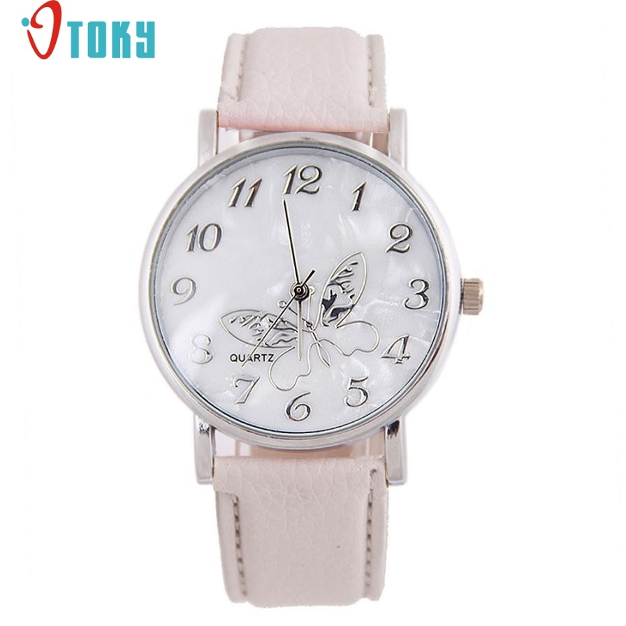 Dress Flow Hot Hothot Sales Best Gift Watches For Women Girls Embossed Band Butterfly Pattern Ladies Quartz Watch Elegant Quartz-watch jy28