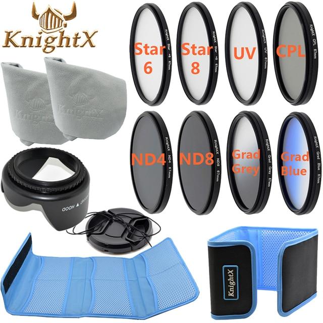 KnightX 49 - 77MM CPL UV FLD Star pink Lens Filter Accessories for NIKON canon D5200 d3300 d3100 d5100 1200d nd gopro 650d d7200
