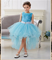 Vestido de la muchacha para la boda del partido nuevo estilo de flores princesa de las muchachas vestidos de los niños vestidos de ropa de la muchacha del verano de cola de Milano 3-10Y