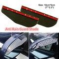 2 Pçs/set Universal À Prova de Chuva Carro Sobrancelha Espelho Retrovisor Anti Guarda Chuva Flexível Sombra Lâmina Capa Protector