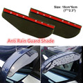 2Pcs/Set Universal Flexible Car Eyebrow Rearview Mirror Anti Rain Guard Shade Rainproof Blade Cover Protector