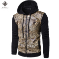 2016 Men Fashion Leopard Jackets Coats Sportswear Cardigans Men's Casual Fashion Slim Fit Autumn Spring Jacket Jaqueta Masculina