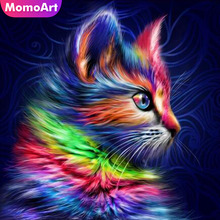 MomoArt Diamond Embroidery Cat Cartoon Full Drill Painting Square Diy Mosaic Animal Home Decoration