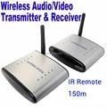 Nova marca 2.4G Wireless A/V TV Audio Video sender Transmissor & Receptor PAT-220 IR Extender Remoto 150 M Frete grátis
