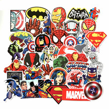 Marvel Superhero Sticker Miracle Skateboard Motorcycle Luggage Laptop Set Pvc Waterproof Super Hero