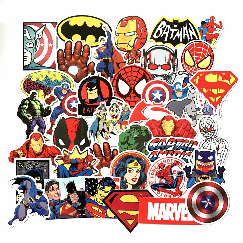 Marvel Superhero Sticker Miracle Sticker Skateboard Motorcycle Luggage Sticker Laptop Set Pvc Waterproof Super Hero Sticker image