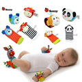 New Sozzy Baby Boys Girls Toy Baby Rattle Wrist Foot Finder Small Soft Children Infant Newborn Plush Sock Brinquedos