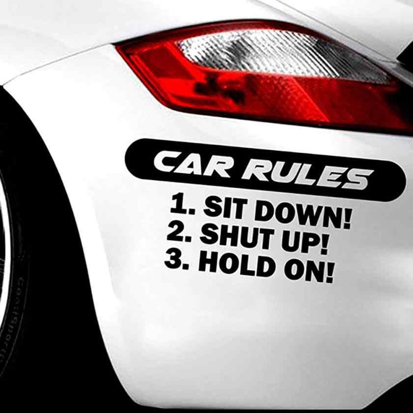 مضحك صائق سيارة-يغطي قواعد صائق انتقد سيارة سيارة شاحنة ملصق فينيل JDM سباق نافذة صائق مضحك الشارات ملصقات H0207