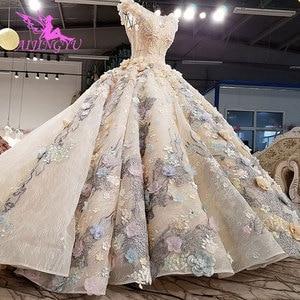 Image 3 - Aijingyuチューブウェディングドレスインドのブライダルなfrocks岬ロング婚約ドレス丈古典的なウェディングドレス