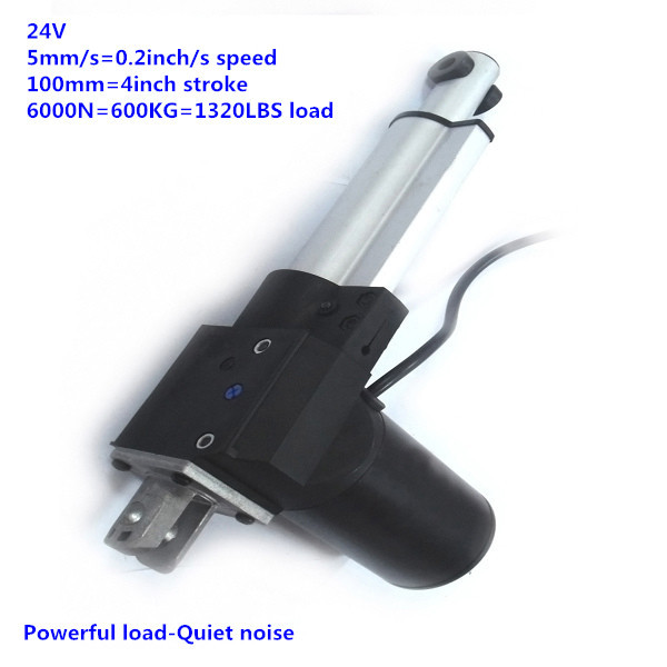 100mm stroke 6000N 600KG load 5mm/s speed 24V DC Recliner chair motor furniture motor free shipping