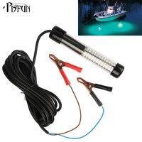 Pisfun 12 v/10.8 w conduziu a luz de pesca submersível com 5 m/5.47yd cordão branco, azul, verde Lâmpada de Pesca Acessórios De Pesca