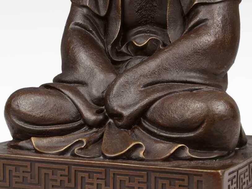 Тибет Буддизм чистый красный Медь Дамо Бодхидхарма damour Архат монах статуя Будды