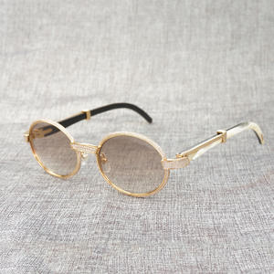 Sereseng Sunglasses Men Wooden Shades Round Eyeglasses