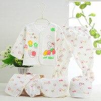 New Fashion Cotton Printing Cartoon Underwear Newborn Baby 0 3M Clothing Set Brand Baby Boy Girl