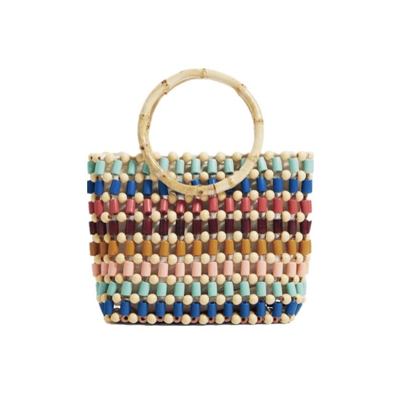 Za nouveauté sac à bandoulière en perles multicolores fait à la main joli sac femme