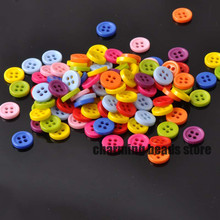 Mixed Round Resin Sewing Buttons for Scrapbooking craft Fashion Accessories 200pcs 9mm YKL0077