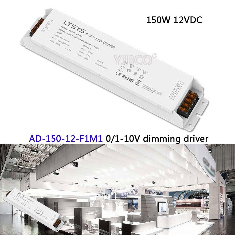 Licht & Beleuchtung Rgb-controller Freies Verschiffen 0/1-10 V Led Dimmen Fahrer; Ad-150-12-f1m1; Ac100-240v Eingang; 12 V/12.5a/150 Watt Ausgang Cv Led-treiber