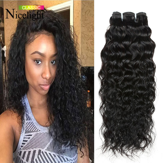 3 Bundles Virgin Cambodian Water Wave Silky Wavy Weave Hair Natural Curl Qingdao Hot