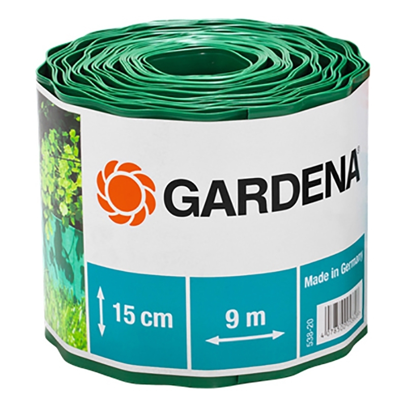 Curb GARDENA 00538-2000000 (Length 9 m, height 15 cm, for adornment flower клумб and lawns, prevents penetration of weed, material-plastic) curb gardena 00534 2000000