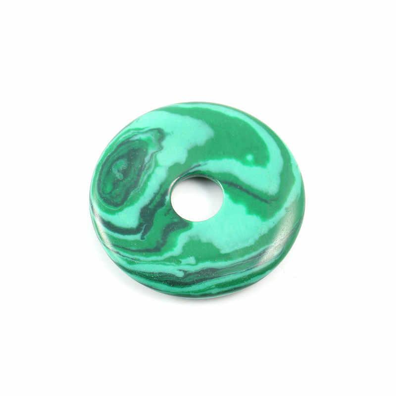 Peças cor de pedra pingente de cor misturada 40 5 milímetros rodada olho de tigre de cristal jade vermelho lava ágatas contas sorte para fazer jóias
