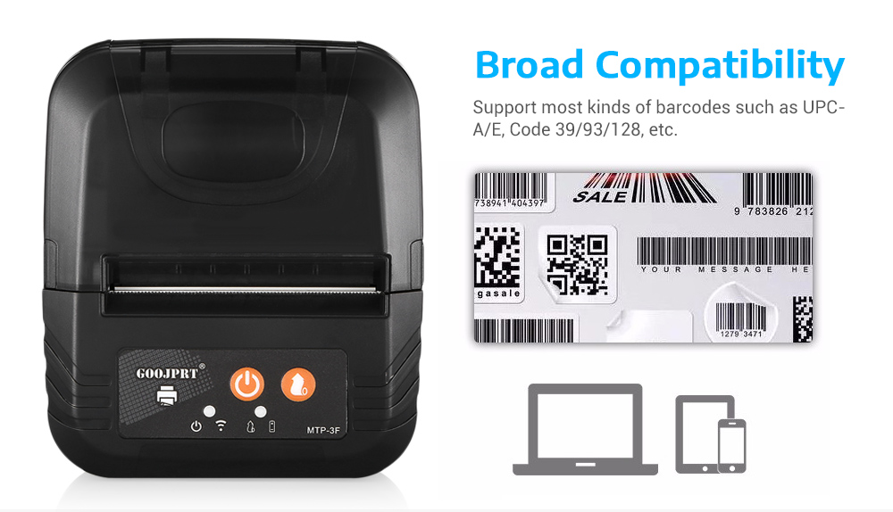 Frete grátis 80mm impressora térmica bill pos