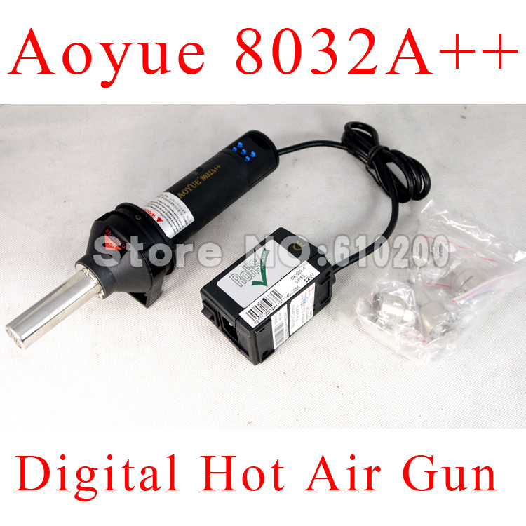 Free shipping AOYUE 8032A++ Handheld Removable Digital BGA Rework Solder Station Hot Air Gun BGA Desoldering Station 220V 550W bg removable bga rework solder lcd digital hot air gun heat gun welding toolsa rework station 220v portable