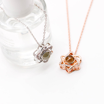 Collier femmes en or Rose  4