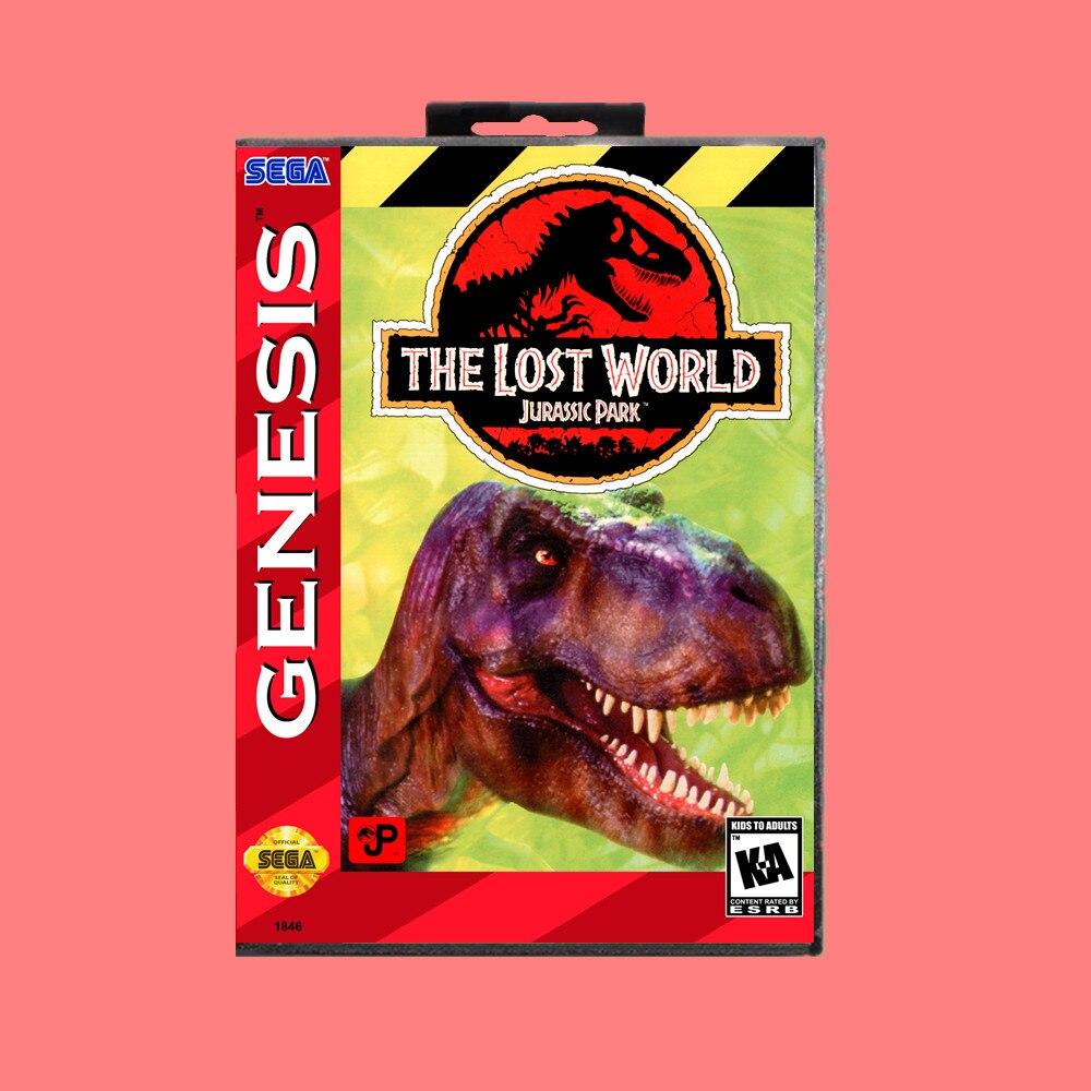 Lost World Jurassic Park 16 Bit Md Permainan Kartu Dengan Ritel Kotak Untuk Sega Genesis Mega Drive Kartu Memori Aliexpress