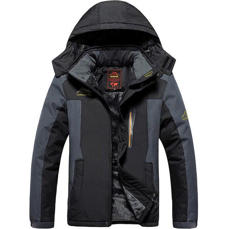 Winter Ski Jacket Men Waterproof Fleece Snow Jacket Thermal Coat For Outdoor Mountain Skiing Snowboard Jacket