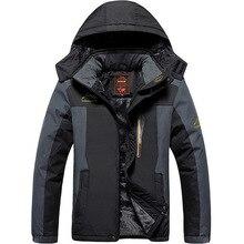 цена на Winter Ski Jacket Men Waterproof Fleece Snow Jacket Thermal Coat For Outdoor Mountain Skiing Snowboard Jacket Plus Size L-9XL