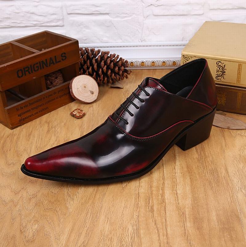As Homme Sapatos Casamento Retro Negócios Couro Chaussure Lace Masculino Vermelho up Pic Vinho Dos Apontado Sapato Homens Se Masculinos Vestem De Toe H4xwRqA