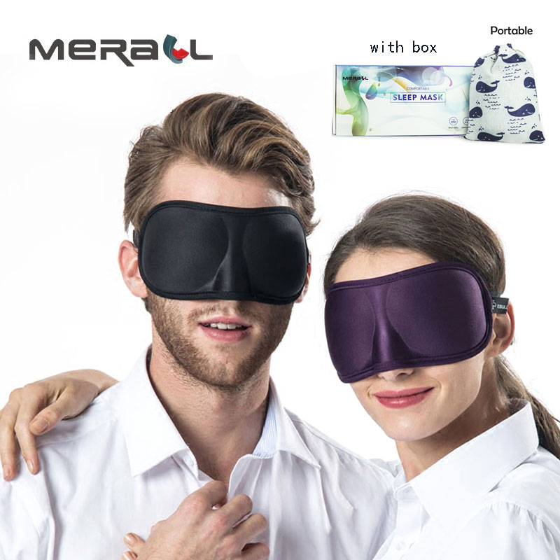 3D Ultra-soft Breathable Fabric Eyeshade Sleeping Eye Mask Portable Travel Sleep Rest Aid Eye Mask Cover Eye Patch Sleep Mask