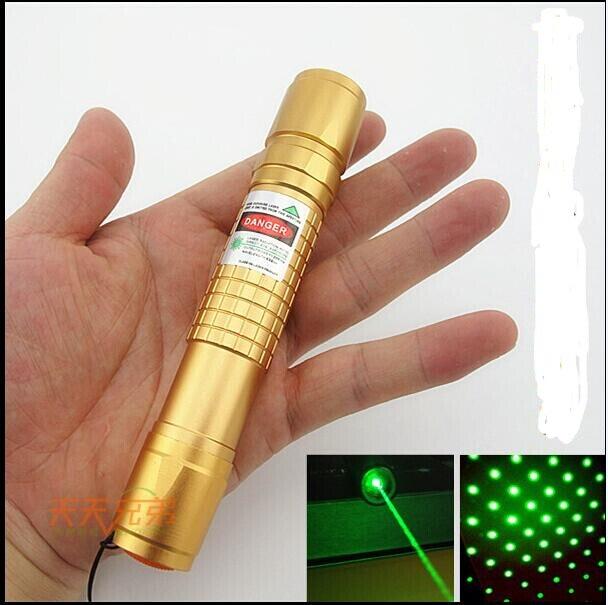 Haute puissance Militaire 500000 m 532nm Lazer Puissant lumière vert pointeurs laser led Faisceau Brûlant Match, pop ballon Brûlure Cigarettes