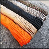 Free Shipping 100 FT Paracord 550 Paracord Parachute Cord Lanyard Rope Military Spec For Outdoor Camping